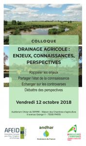 Colloque Drainage agricole : Enjeux, connaissances, perspectives